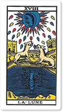 ¿Qué representa la Luna si sale en una tirada de Tarot?